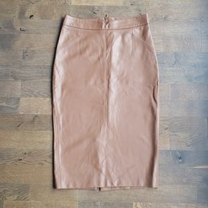 Gorgeous faux leather skirt